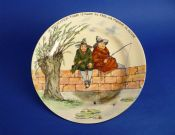 Fine Royal Doulton Series Ware 'Gallant Fishers' Rack Plate D3680 c1925 #1